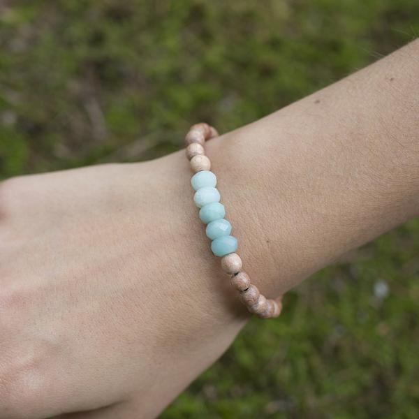 "Amazonite ""Be Courageous"" Be Your Own Hero Bracelet"
