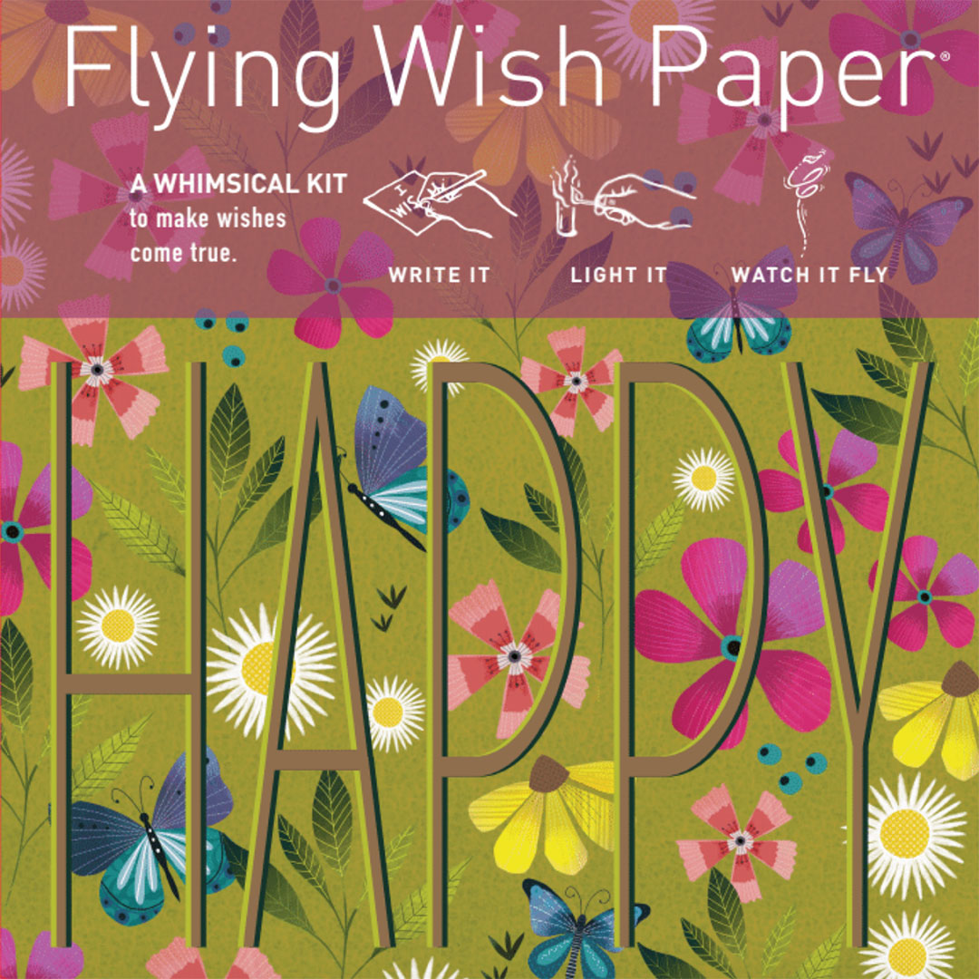 Flying Wish Paper Mini Happy