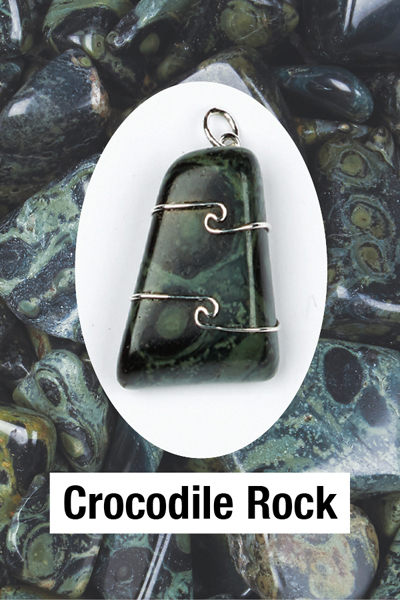 Crocodile Rock Wire Wrap Pendant