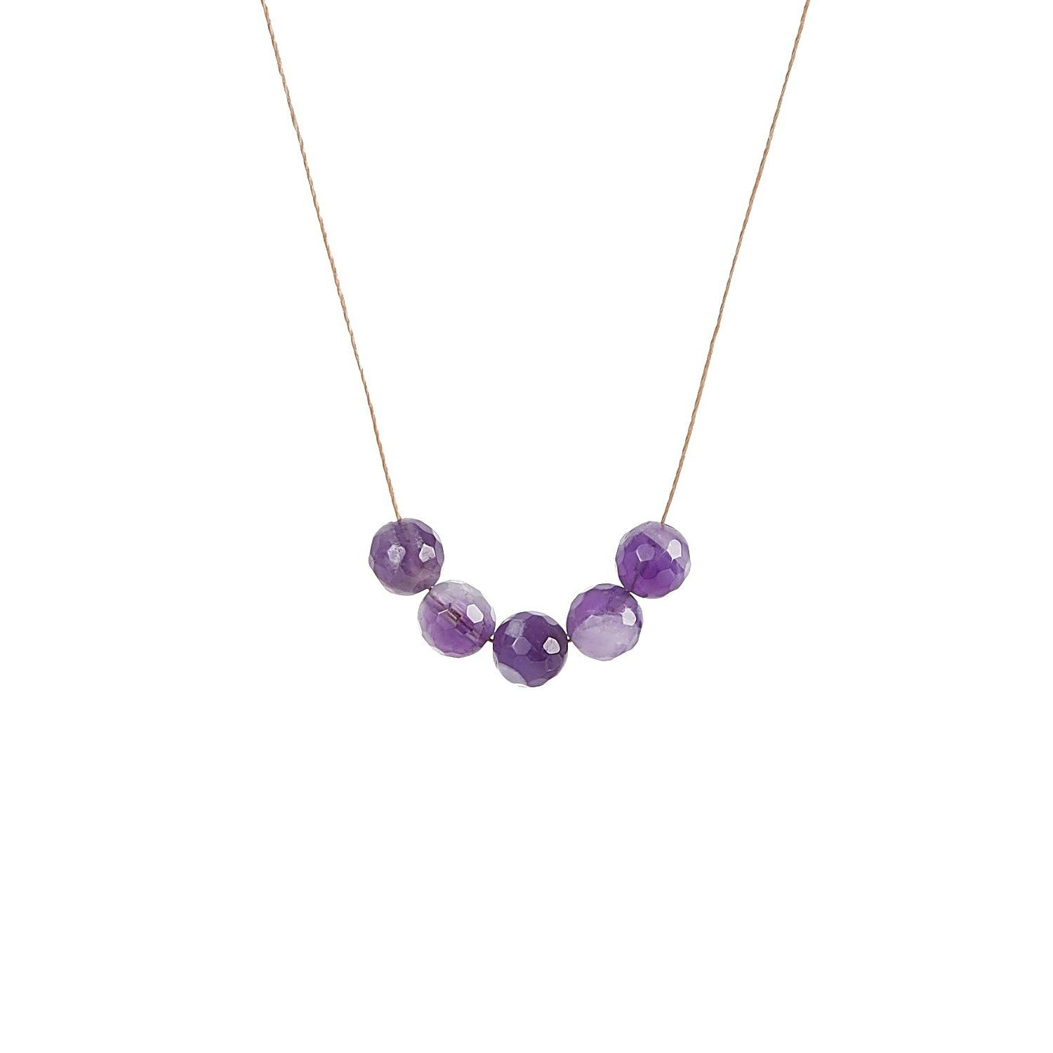 Amethyst Intention Necklace for Empowerment and Healing