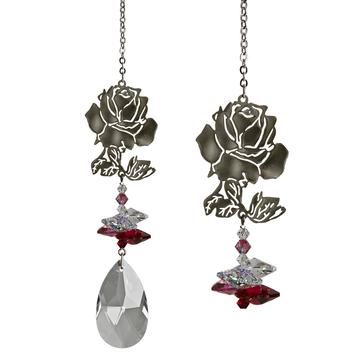 Crystal Fantasy Suncatcher, Rose