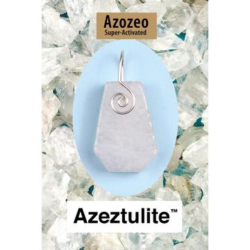 Azeztulite Spiral Front Wire Wrap Pendant