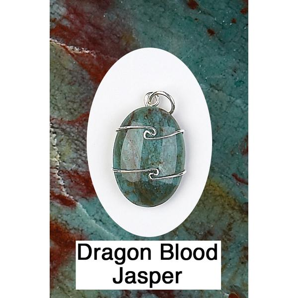 Dragon Blood Jasper Wire Wrap Pendant