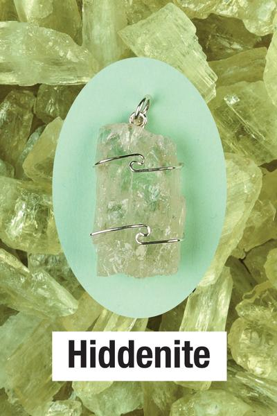 Hiddenite Wire Wrap Pendant