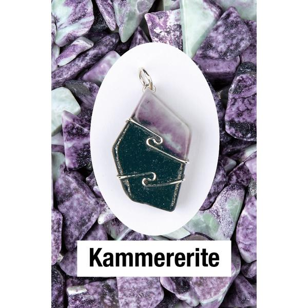Kammererite Wire Wrap Pendant