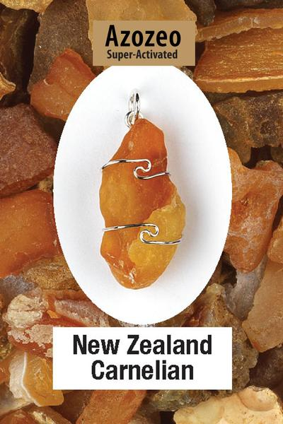 New Zealand Carnelian Wire Wrap Pendant