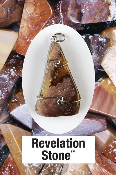 Revelation Stone Wire Wrap Pendant