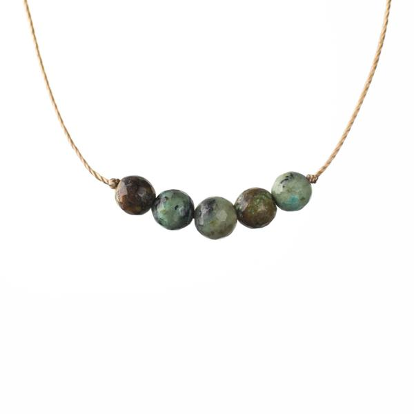 African Turquoise Intention Necklace for Growth