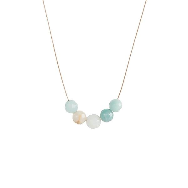 Amazonite Intention Necklace for Courage and Strength