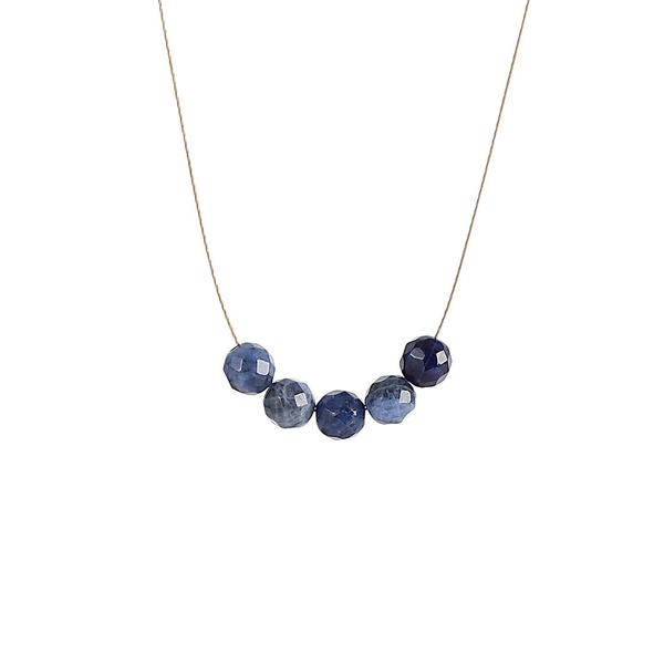 Sodalite Intention Necklace for Self-Esteem and Confidence