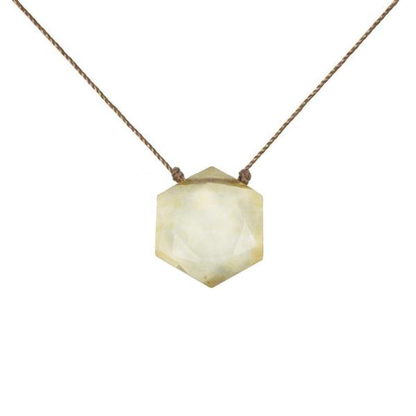 Citrine Sacred Geometry Necklace to Manifest