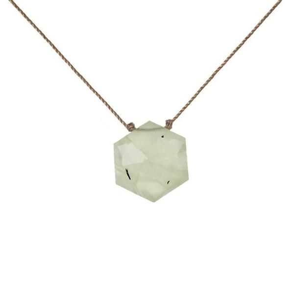 Prehnite Sacred Geometry Necklace to Protect