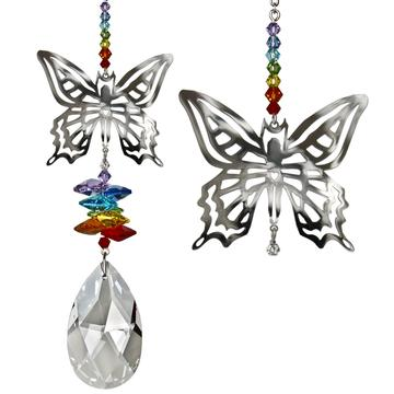 Crystal Fantasy Suncatcher, Butterfly (large)