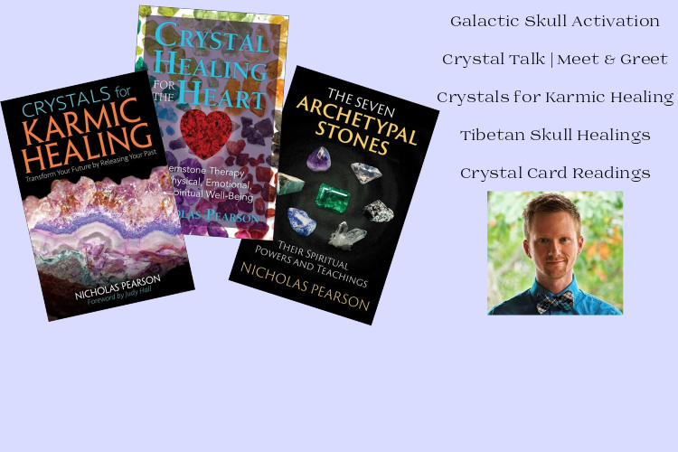 Crystal Healing Workshops and Private Sessions with Author Nicholas Pearson
