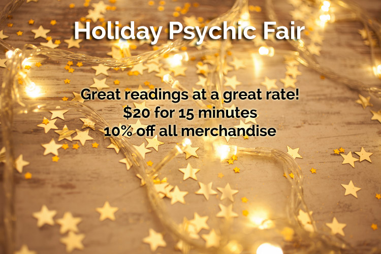 Holiday Psychic Fair - now taking reservations